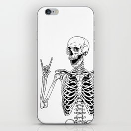 Rock and Roll Skeleton iPhone Skin