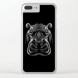 Tribal hippopotamus Clear iPhone Case
