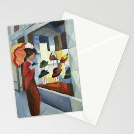 "August Macke ""Frau mit Sonnenschirm vor Hutladen (Woman with umbrella in front of a hat shop)"" Stationery Cards"