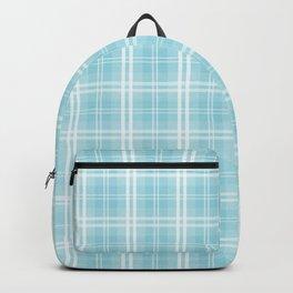 Spring 2017 Designer Color Island Paradise Blue Tartan Plaid Check Backpack