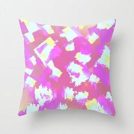 Colourful Squares Throw Pillow