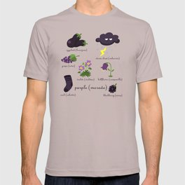 Colors: purple (Los colores: morado) T-shirt