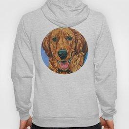 Coper the Golden Retriever Dog Portrait Hoody