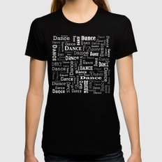 Just Dance! Womens Fitted Tee Black SMALL