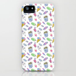 Birthday party candy art iPhone Case