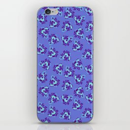 Bright Vintage Floral in Blue iPhone Skin