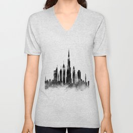 Dubai Skyline Unisex V-Neck