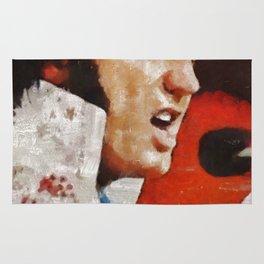Elvis Presley in Concert Rug