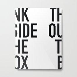 Outside The Box Metal Print