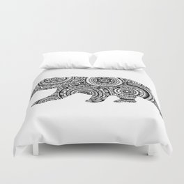 Mandala Bear Duvet Cover