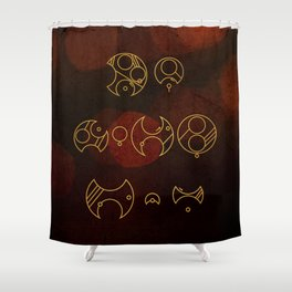Demons run Shower Curtain