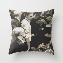 urban cameo Throw Pillow