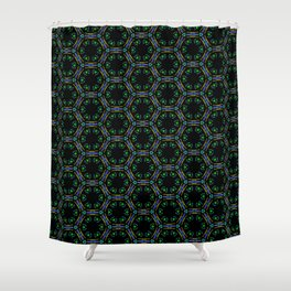 Awesome Doodle Pattern 519-1 Shower Curtain