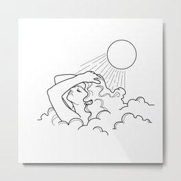 Sun shower Metal Print