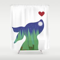 night sky Shower Curtains featuring Night Sky by Laura Taylor