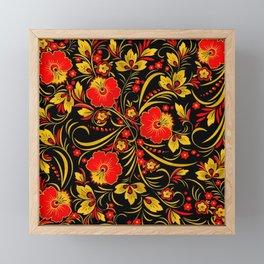 Russian khokhloma Framed Mini Art Print