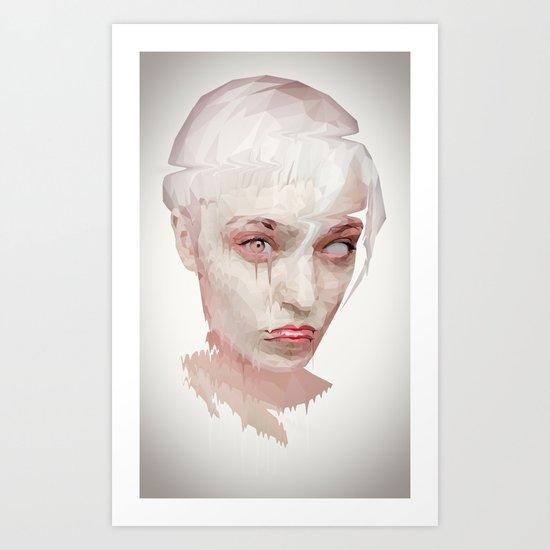 melting girl Art Print
