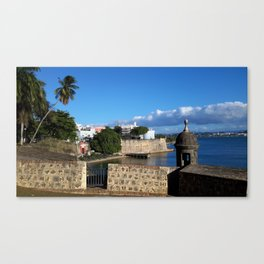 Old San Juan Puerto Rico fortress and lagoon Canvas Print