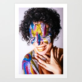 Anita Feather. Art Print
