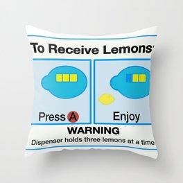 Lemon Dispenser Throw Pillow