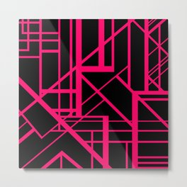 Roadway Of Abstraction - Interstate Abstract Path Metal Print