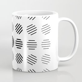 Black and White centered lines Coffee Mug