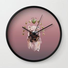 Les fleurs au-dessus d'ours ROSE Wall Clock