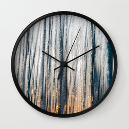 Sunset behind the willow trees Wall Clock