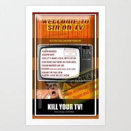 Sin TV Art Print