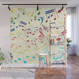 Musical Notes 4 Wall Mural