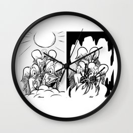Heaven and Hell Wall Clock