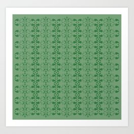 green retro pattern Art Print