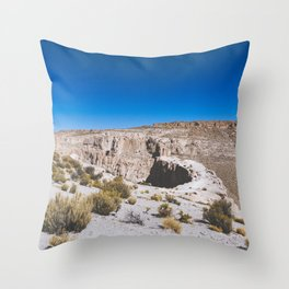 Over the Edges of the Atacama Desert, Bolivia Throw Pillow