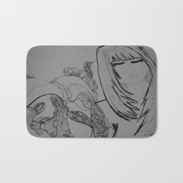 TheGirl with the tattoo Bath Mat