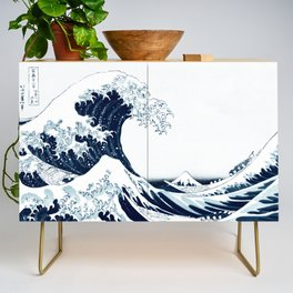 The Great Wave - Halftone Credenza