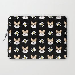 Corgi welsh corgi daisy flowers spring summer florals dog breed pet portrait by pet friendly Laptop Sleeve