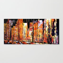 Golden town Canvas Print