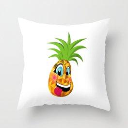 New School Pineapple (simple) Throw Pillow