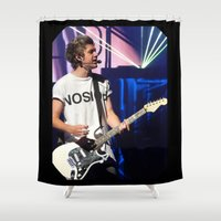niall horan Shower Curtains featuring Niall by clevernessofyou