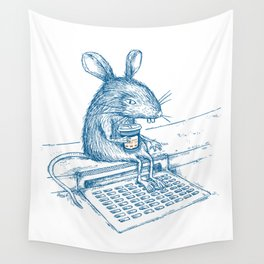 Cup O' Coffee NYC Style_rat Wall Tapestry