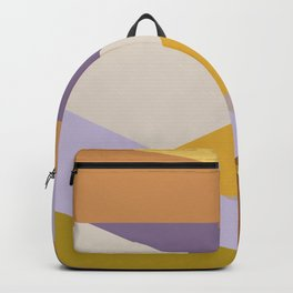 Earthy Autumn Colors Abstract Shapes Backpack