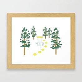 Disc Golf Stupid Trees Woods Men Women Court Gift Framed Art Print
