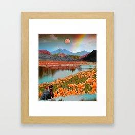 Rainbow gardens Framed Art Print