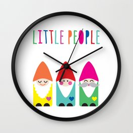 Gnomes Are Little People. Wall Clock
