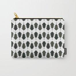 Oak Leaves Pattern (Black) Carry-All Pouch
