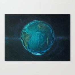 Globe: Relief Atlantic Canvas Print