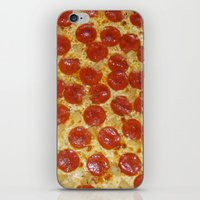 pizza iPhone & iPod Skins featuring Pizza by Dani Mininancy