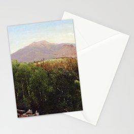 Mount Lafayette New Hampshire 1871 By David Johnson | Reproduction | Romanticism Landscape Painter Stationery Cards