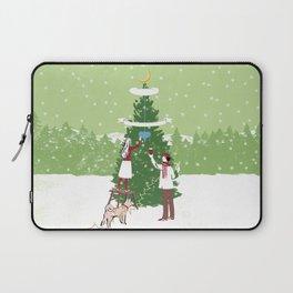 Decorating a tree Laptop Sleeve