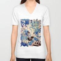 polar bear V-neck T-shirts featuring Polar Bear by Michael Hammond